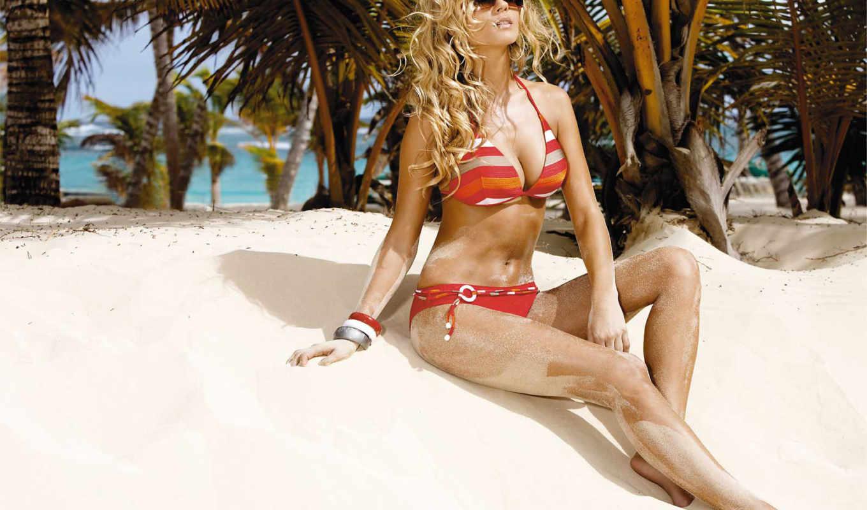 девушка, blonde, очках, devushki, очки, песок, песке,