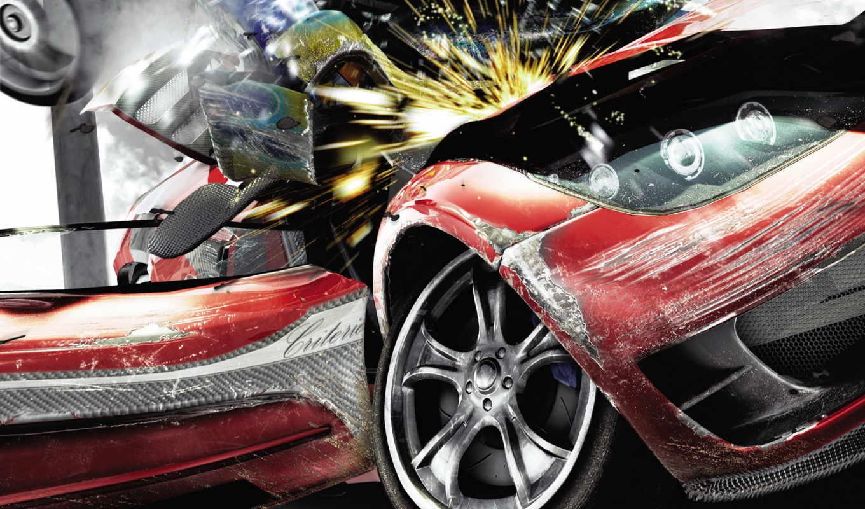 авария, машина, game, аварии, за, трассе,