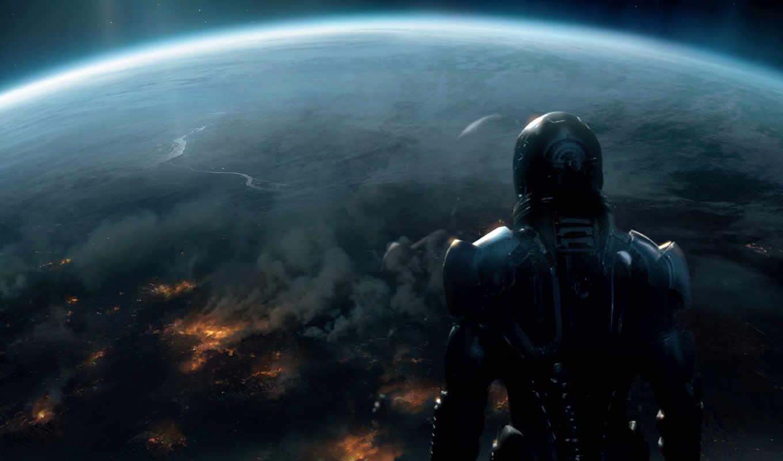шепард, планета, земля, будущее, солдат, effect, mass, космос, фантастика, картинку, картинка,