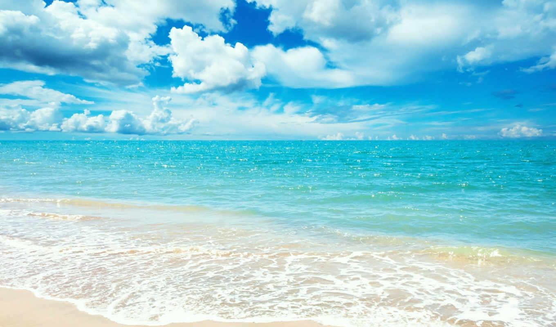 sea, небо, пляж, blue, синее, views,