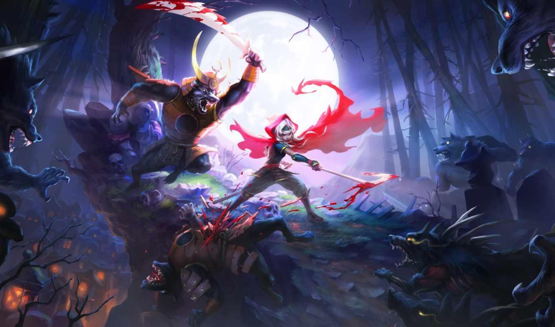 akaneiro, hunters, game, games,