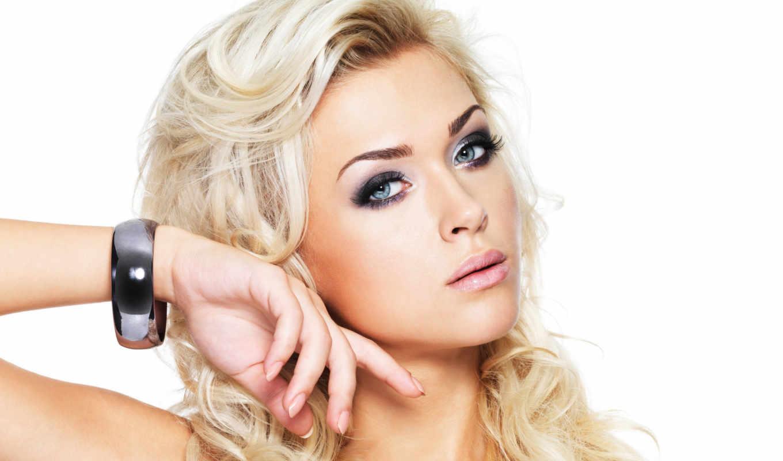 макияж, блондинок, макияжа, вечер,