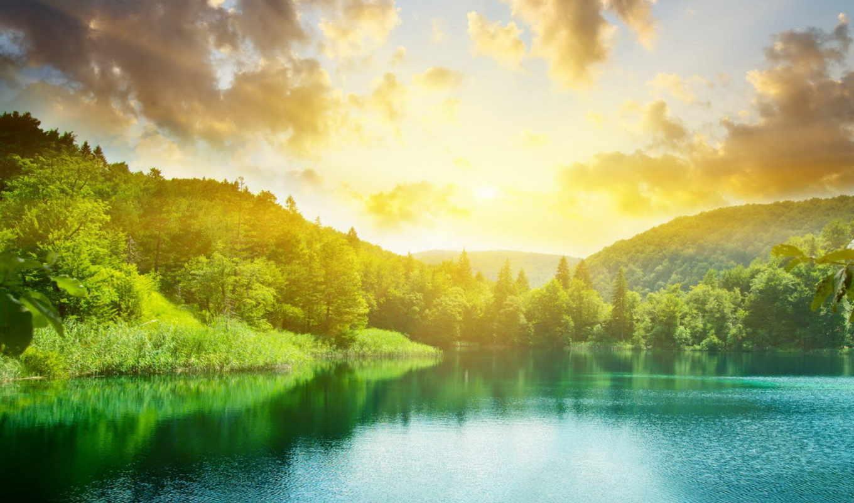 озера, озеро, их, природа, landscape,