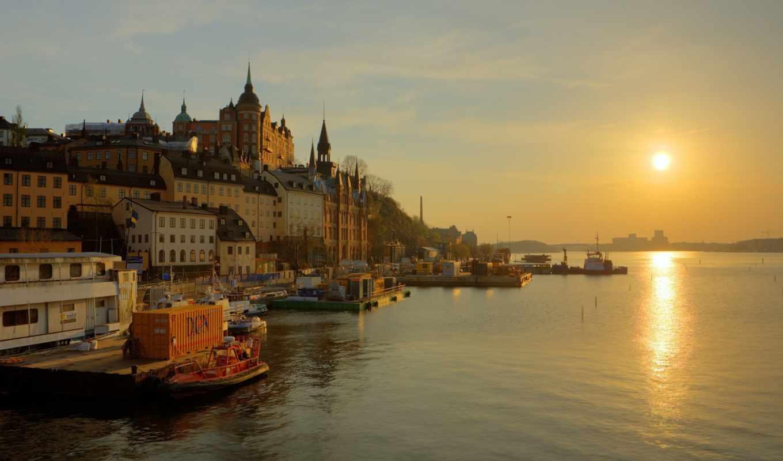 sweden, stockholm, река, набережная, sun, hannes, трек,