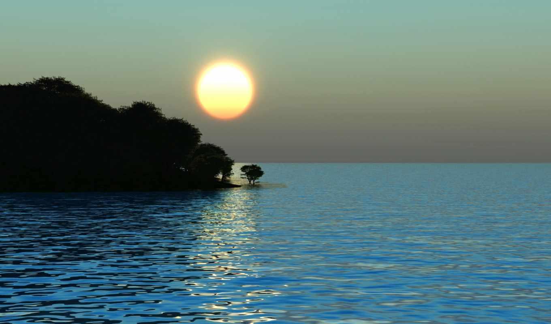 sun, восход, море,