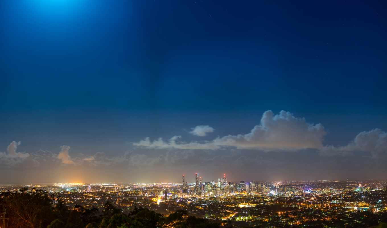 ,вечер,город.освещение, облака,