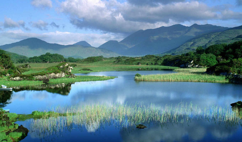 nature, landscape, background, original, killarney, free, lake, desktop, mountain, фотографии,
