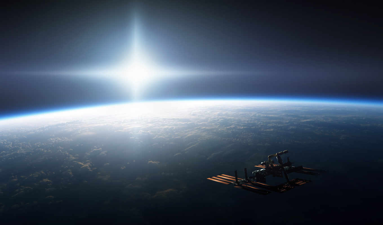 космос, корабль, орбите, солнце, планета, мкс, картинка, desktop, земля, ft, свет, waterybell, яркость, stupeflix, station, free, boku,