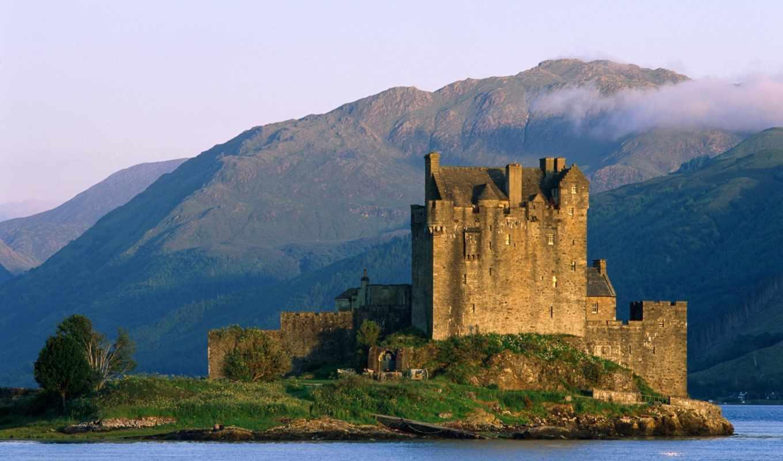 castle, eilean, donan, шотландия, шотландии, pe,