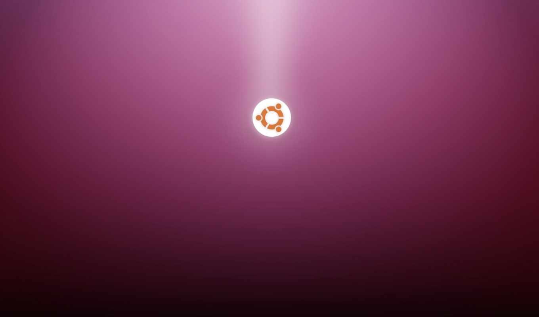 ubuntu, linux, logo, фиолетовый