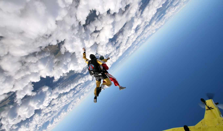 парашютом, прыжки, спорт, парашют,