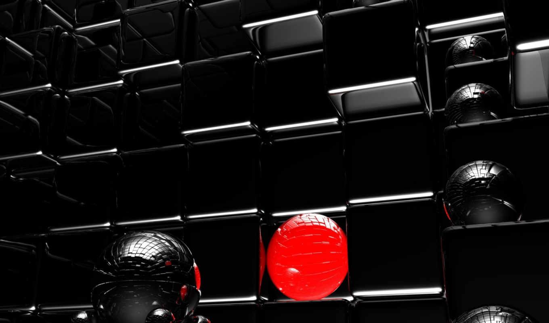 black, design, кубы, фон, шарики, desktop, high, full, size, купить,