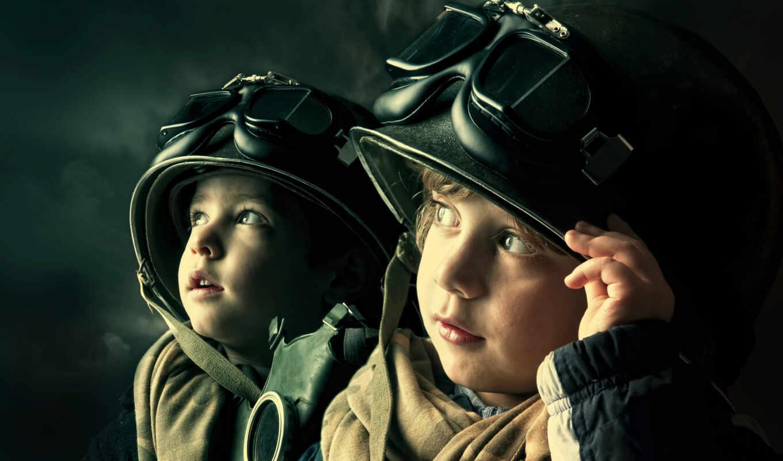 дети, маска, шлем,