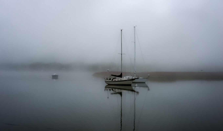 landscape, views, камни, туман, озеро, отдых, лодка, отдыха, amazing,