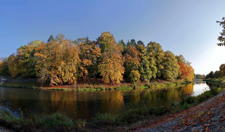 природа, reki, чехия, картинка, krаlovе, республика, příroda, река, взгляд,