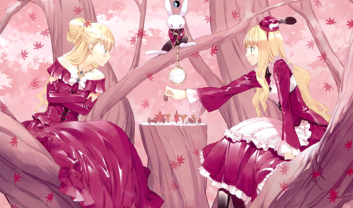 аниме, alice, wonderland, wallpapers, wallpaper, anime,