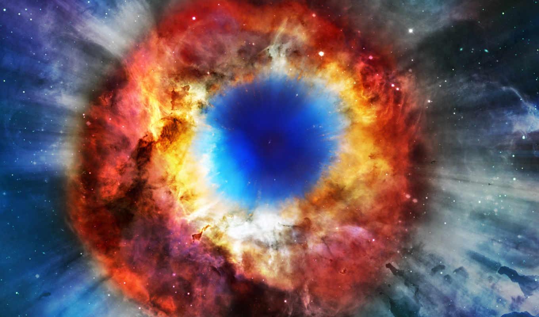 улитка, глаз, nebula, space, desktop,