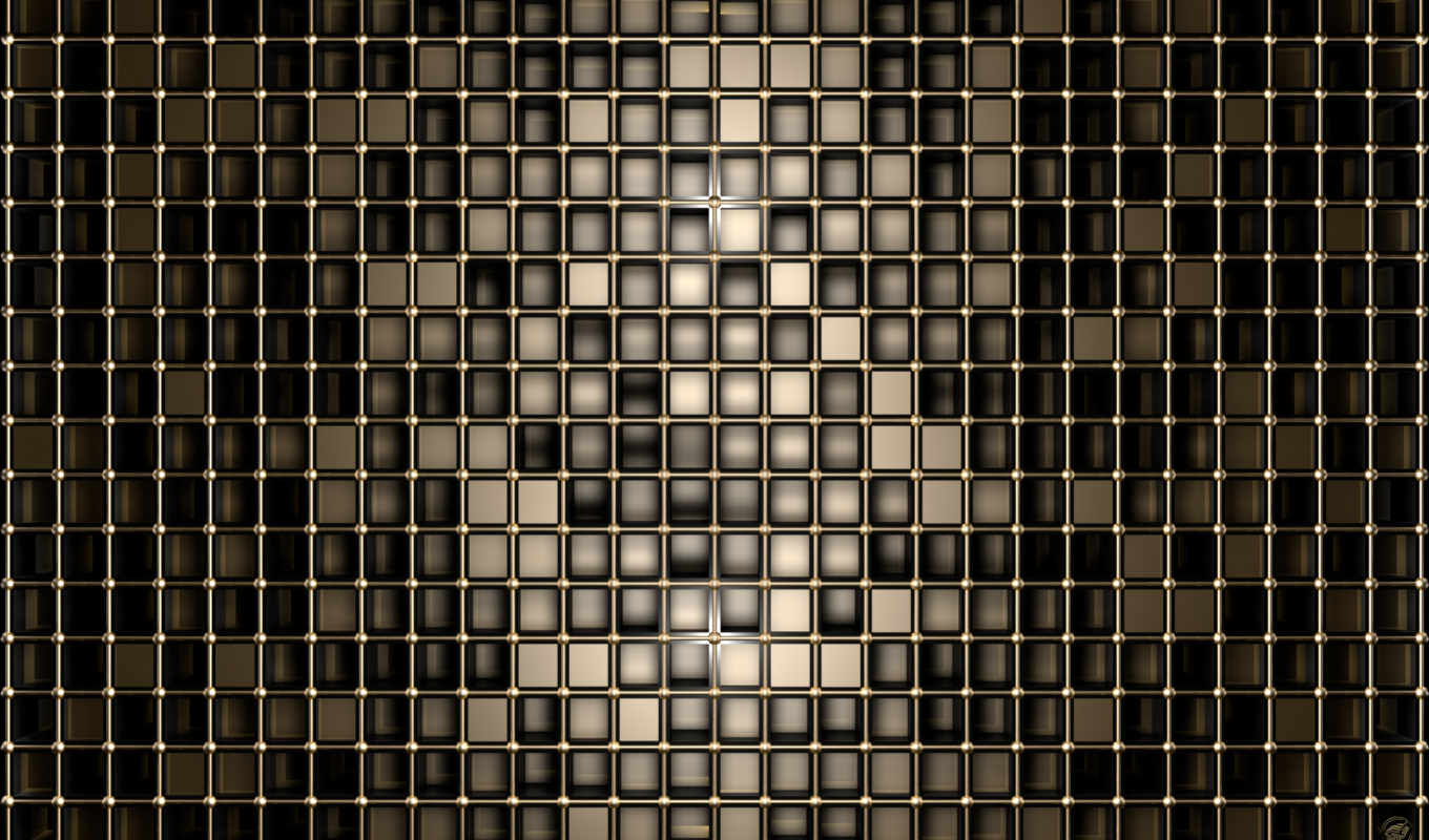 геометрия, графика, black, gold, shape, deep, squares,