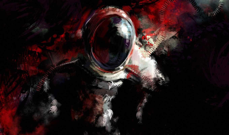 космонавт, пятна, абстракция, glass, cosmos,