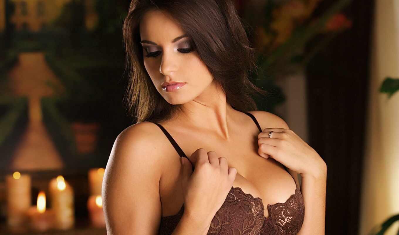 девушка, красивая, грудь, devushki, ливчик, свет, ринг, губки, картинка, шатенка, волосы,