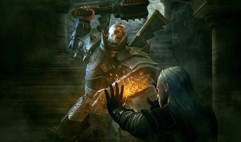 witcher, картинка, эпизод, игра, магии, background, сила, gamer, картинку,