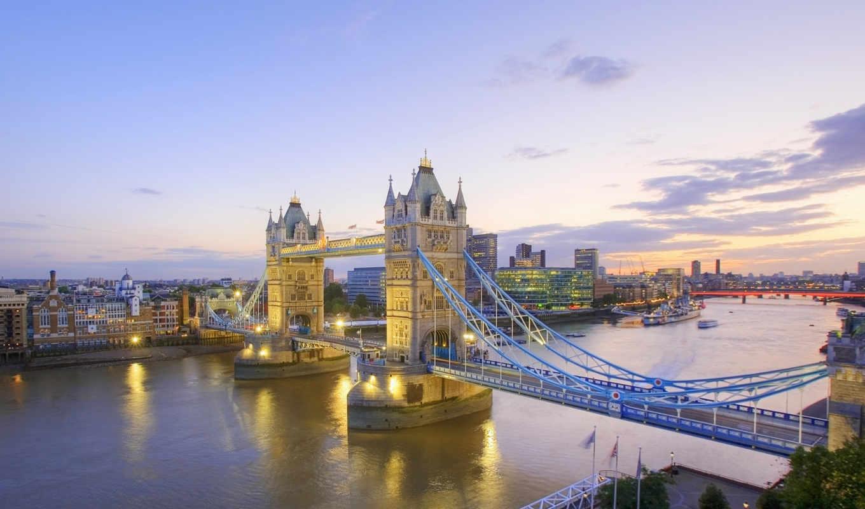 англия, london, тауэрский, мост,