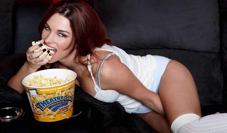 popcorn, maree, sabrina, картинка, девушка, ест, splash, телефон, full,
