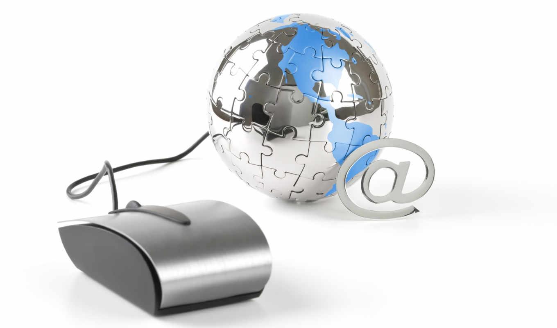 мышь, компьютерная, шар, зеркальный, паззл, электронная почта