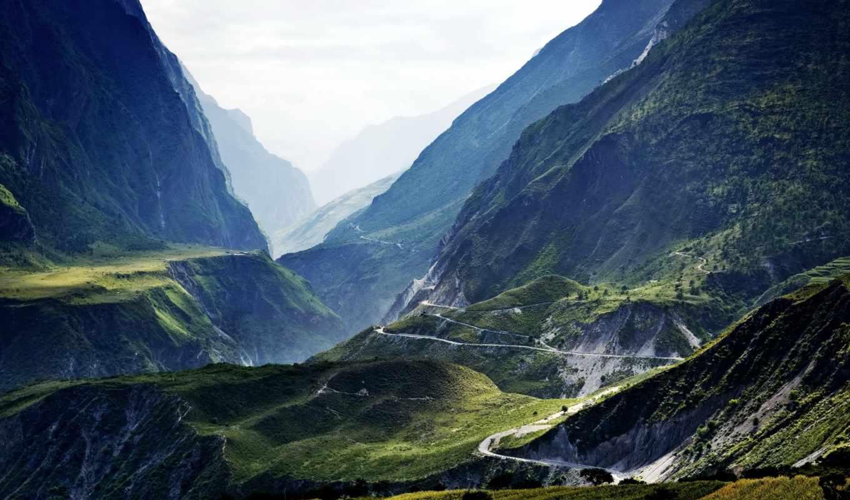 горы, природа, уровень,