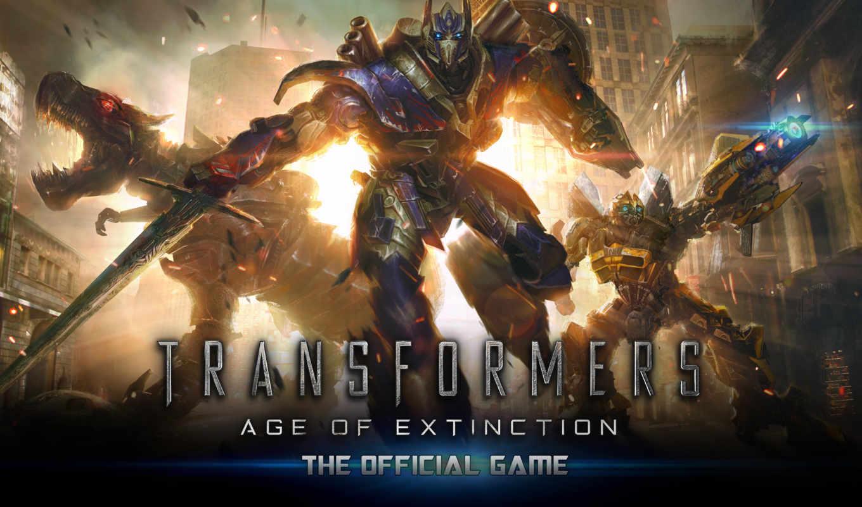 трансформеры, истребления, game, era, transformers, age, extinction, автоботов, filmu, выйдет, постеры,