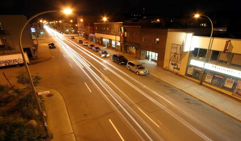 ночь, улица, car, свет