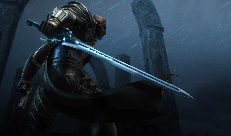 меч, оружие, воин, нравится, too, human, xbox, смотрите, iphone, экрана,