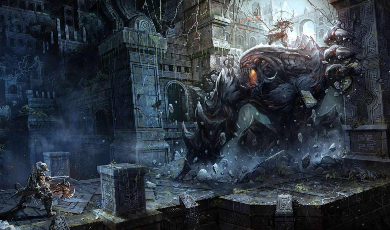 варвар, воины, монстры, рисунки, оружие, diablo, iii, картинка, xu, картинку, blizzard, µºúææ, µéñ, game, art, chao, yuan, игры,