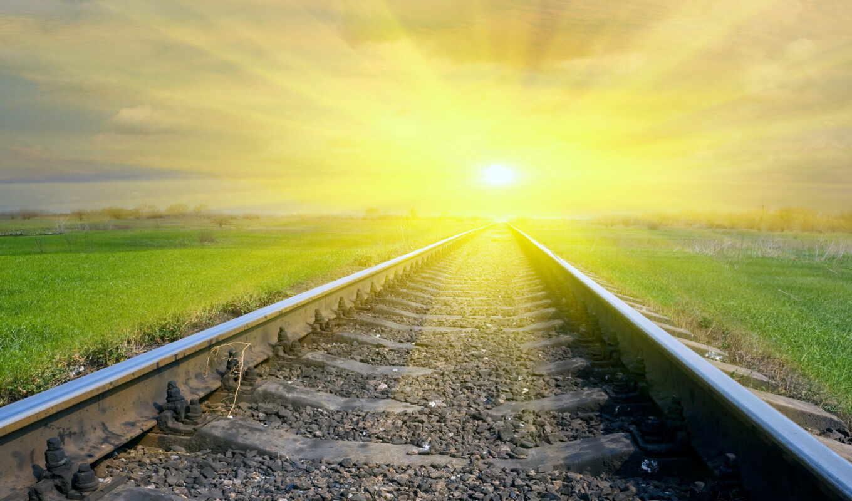 солнце, дорога, железная, ярко, sms, открытку, главное, светлое, будущее,