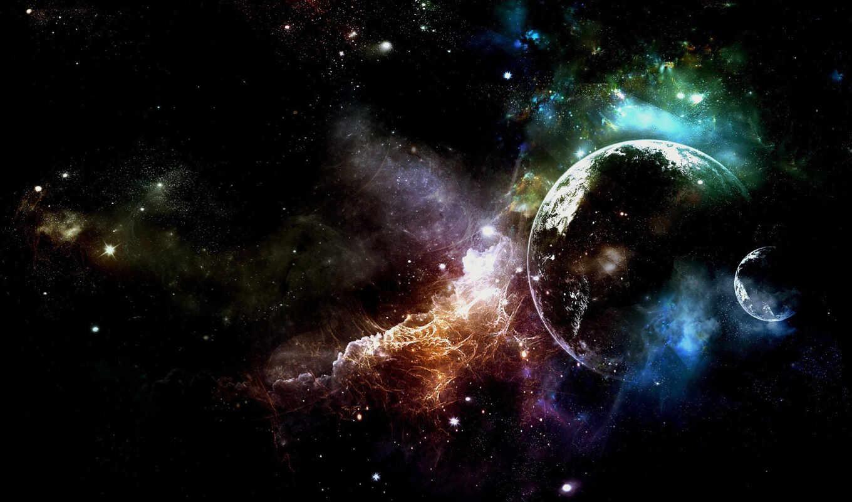 stars, space, туманность, звезды, планеты,