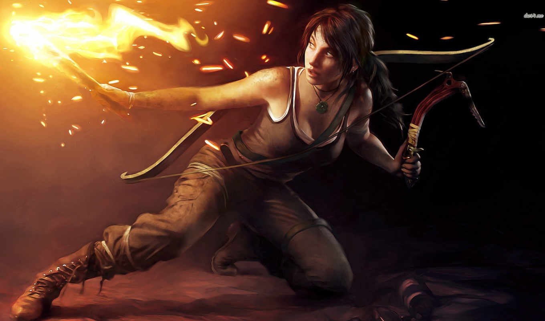 raider, tomb,, игры, croft, шахте, лара, сокровища,