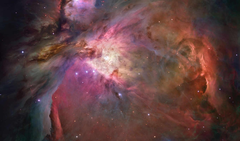 nebula, звезды, созвездие, высоком, космос, orion,