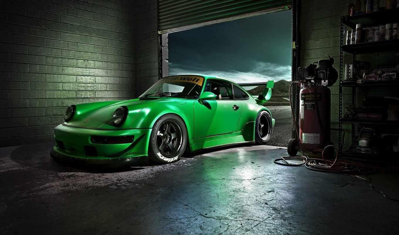 porsche, rwb, картинка, car, carrera, зелёный, porshche,