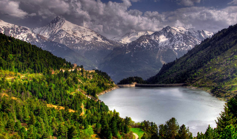 landscape, деревя, природа, леса, озеро, картинка, лес,