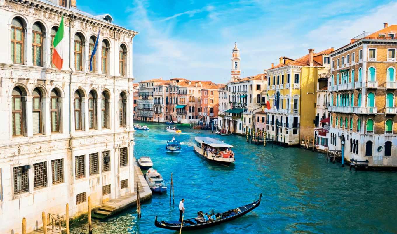 canal, grand, города, фотообои, venice, виды, венеции, канал, venezia, евро,