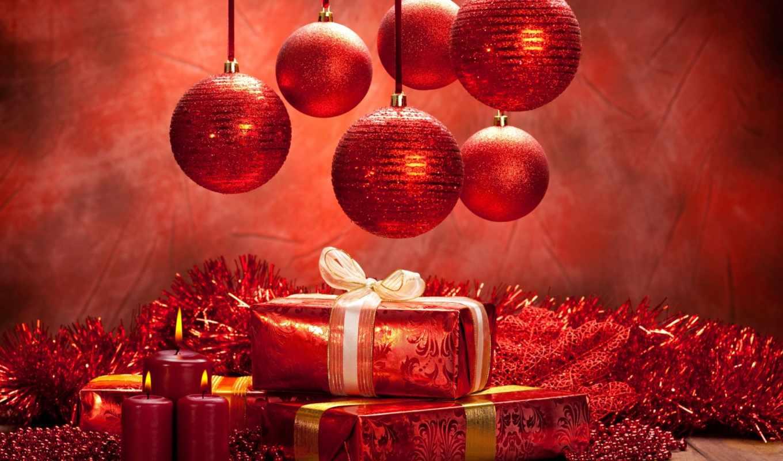 christmas, новый, год, шарики, картинка, свечи, red, праздник, подарки, картинку,