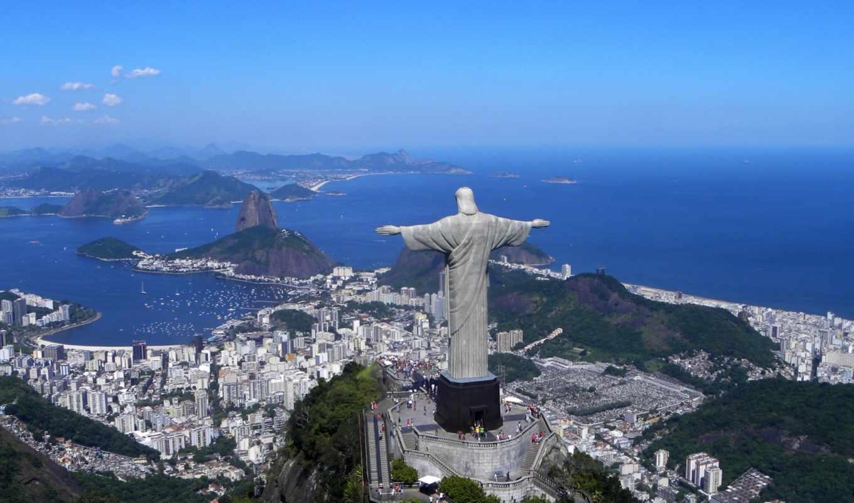 brazil, является, взгляд, статуя,