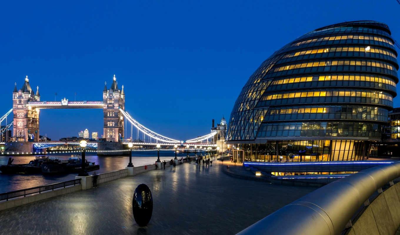 город, мост, london, великобритания, great, башня, англия, thames, hall,