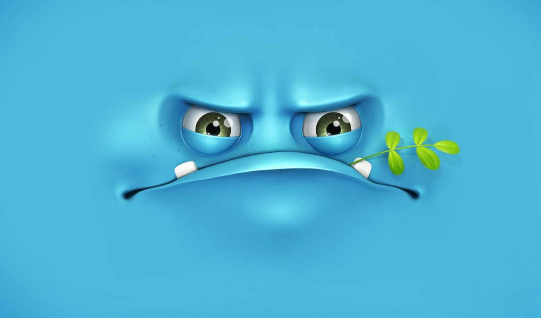 ,морда,травинка,голубой,зубы,глаза,