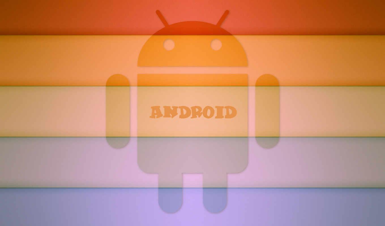 android, rainbow, logo