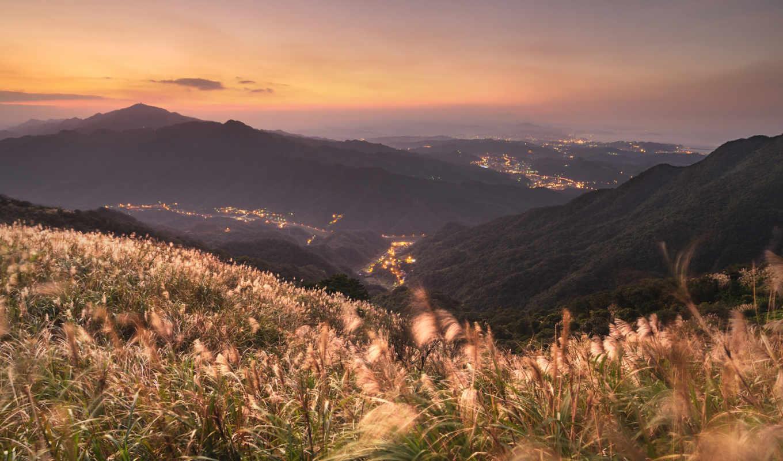 china, горы, трава, пейзажи -, города,