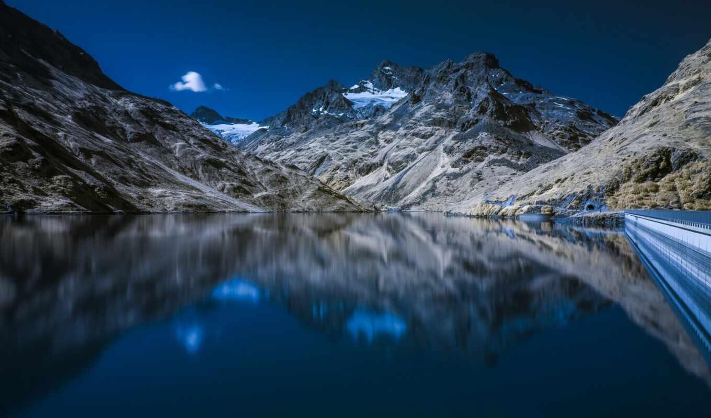 ,отражение, озеро, lil, гора,