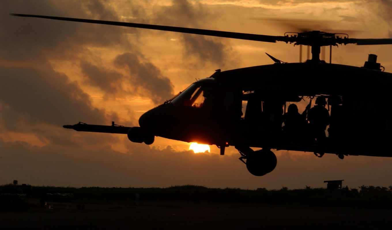 вертолет, солдаты, вечер, black, hawk, sunset, military, кнопкой, правой, изображение, blackhawk, mail,