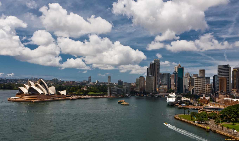 сидней, австралия, красивые, города,