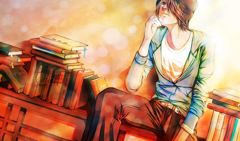 boy, anime, волосы, браун, manga,